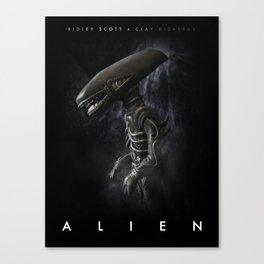 Alien 'Polymer Poster' Canvas Print