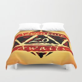 D20 Adventure Awaits Watercolor Way of Blood Duvet Cover
