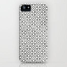 QUATREFOIL BLACK iPhone Case
