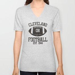 Cleveland Football Fan Gift Present Idea Unisex V-Neck