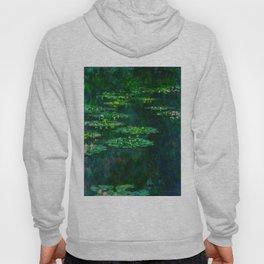 Claude Monet Impressionist Landscape Oil Painting Waterlilies Hoody