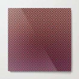 Square Illusion Pattern Metal Print