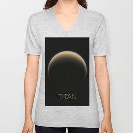 NASA-planet-asteroid post-titan Unisex V-Neck