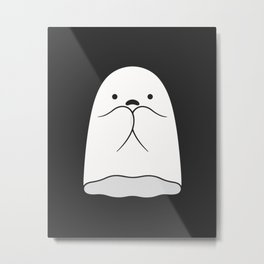 The Horror / Scared Ghost Metal Print