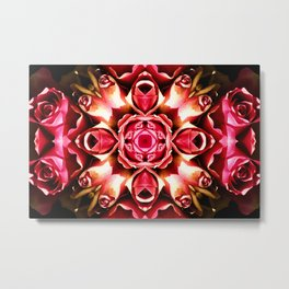 Pink Rose Abstract Metal Print