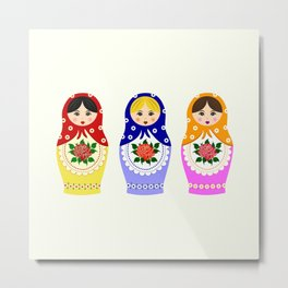 Russian matryoshka nesting dolls Metal Print