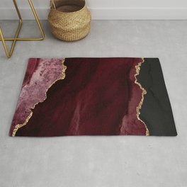 Agate, Burgundy Pink Faux Gold Rug