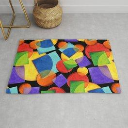 Candy Rainbow Geometric Rug