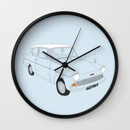 Weasley's Flying Ford Anglia Wall Clock