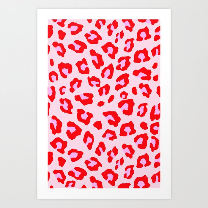 Leopard Print - Red And Pink Kunstdrucke