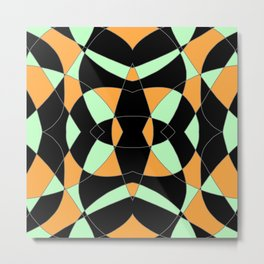 Blackish Abstract Mandala Metal Print
