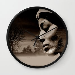 TALK TO THE LION... - sepia Wall Clock