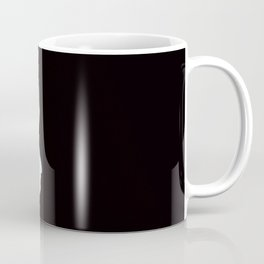 Hello Daisy - White Flower Black Background #decor #society6 #buyart Coffee Mug