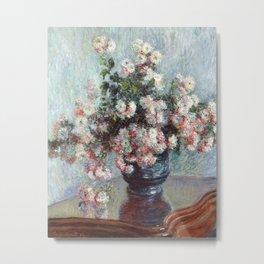 Chrysanthemums by Claude Monet , 1882 Metal Print