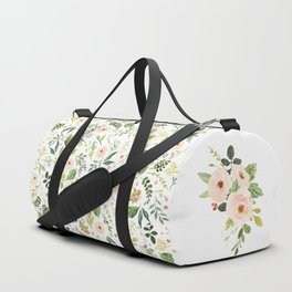 Botanical Spring Flowers Duffle Bag