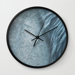 Wild horse photography, fine art print of the mane, for animal lovers, home decor Wall Clock