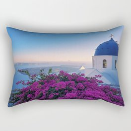 The Beauty of Santorini Rectangular Pillow