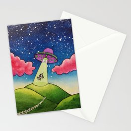Cow Abduction Stationery Cards