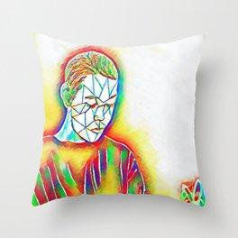Colorful Sadness Throw Pillow