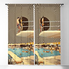 Illusionary Pool Party Blackout Curtain