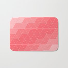 Coral Red Triangles Bath Mat