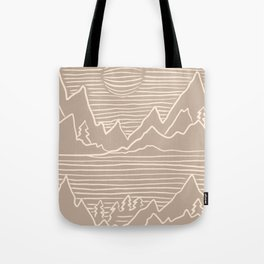 A Perfect Adventure - Outdoor Abstract Beige Tote Bag
