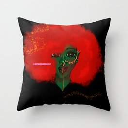 The Green Lady Throw Pillow