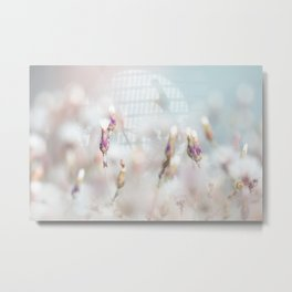 Fresh and delicate garden flowers Metal Print
