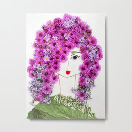 Megi, sentient healer flower lady Metal Print
