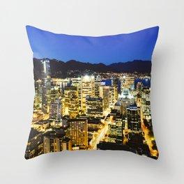 1374 Twilight Evening Vancouver Throw Pillow