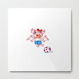 Fruit Bat 2- Soccer baby Metal Print