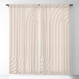 Minimal Line Curvature - Natural Blackout Curtain