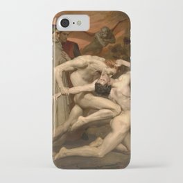 Dante and Virgil in Hell by William Bouguereau iPhone Case