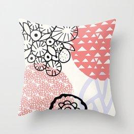 palm desert: 80's pastel patterns Throw Pillow
