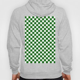 Small Checkered - White and Dark Green Hoody