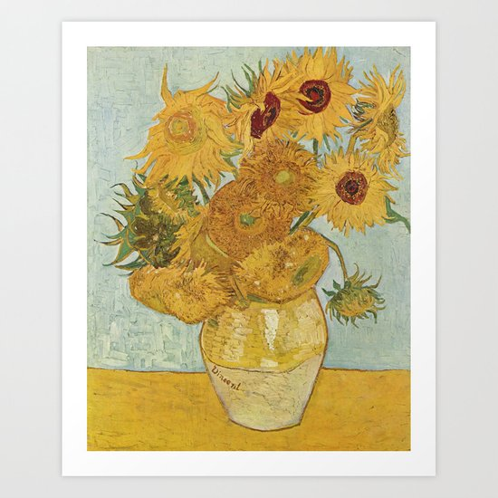 Vase with Twelve Sunflowers, Van Gogh by historia-images