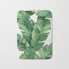Tropical banana leaves Badematte