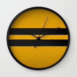 yellow and black Wall Clock