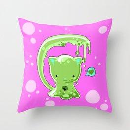 Monster Slime-Kitty Throw Pillow