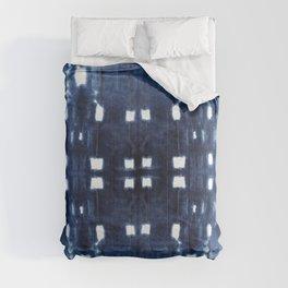 Shibori City Blue Comforters