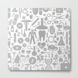 Medical background Metal Print