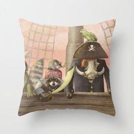 Pirates! Throw Pillow