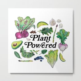 Plant Powered Metal Print