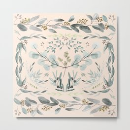 Eucalyptus square Metal Print