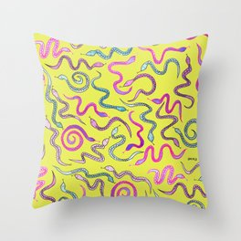Wakey Snakey Throw Pillow