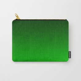 Black to green ombre flame Carry-All Pouch