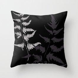 Silver Fern Throw Pillow