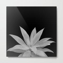 Black Gray Agave Vibes #1 #tropical #decor #art #society6 Metal Print