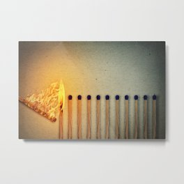 burning matches fire Metal Print