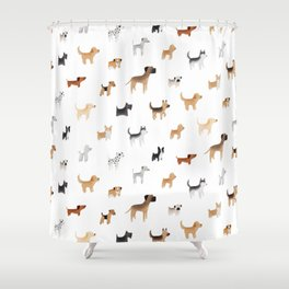 Lots of Cute Doggos Shower Curtain